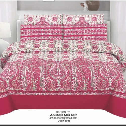 Black, Red and White Background Bed Sheets