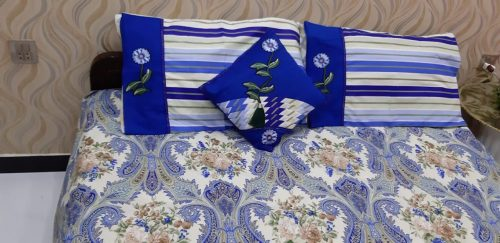 Blue sheet Pillow & Cushion