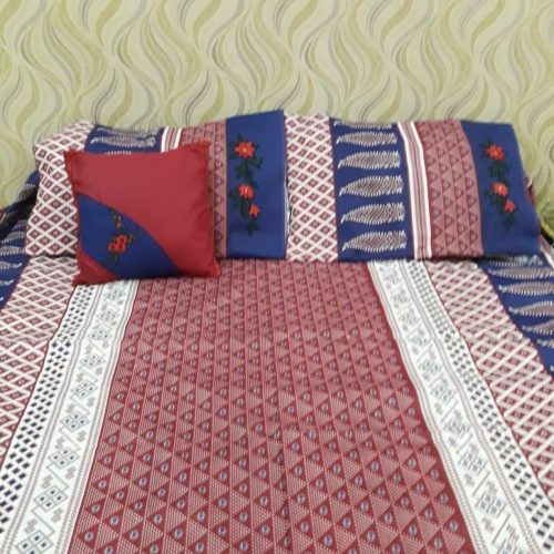 Dark Red Blue Sheet Pillows & Cushion