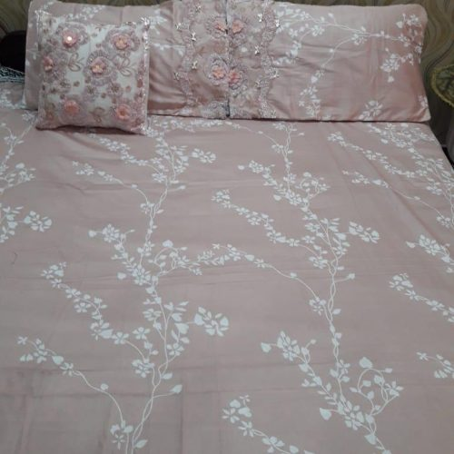 Light Brown Pink Sheet Pillows & Cushion