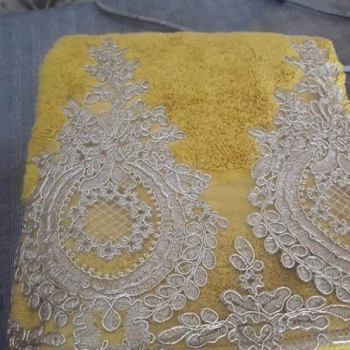 Yellow Towel Embroidered