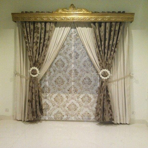 3d Design Curtains Printed