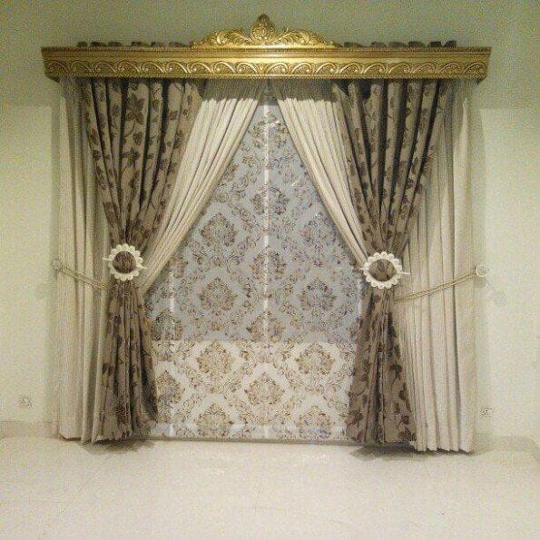 3d Design Curtains Printed