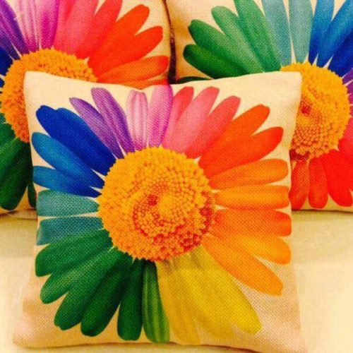 Big Flower Print Cushions