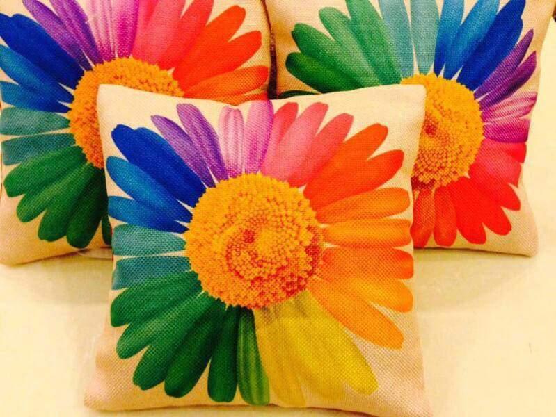 Big Flower Print Cushions