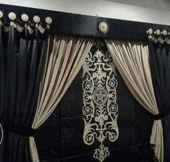 Black Golden Curtains for Wedding