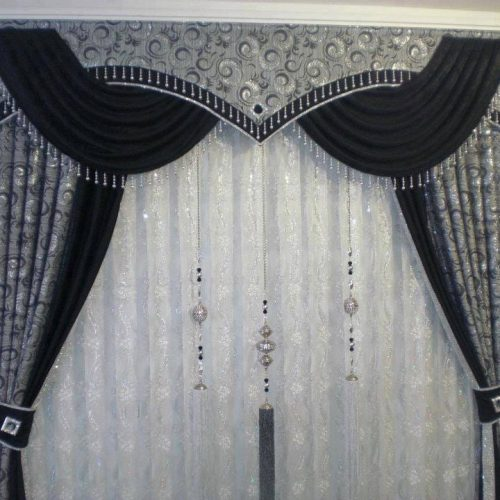 Black & White Curtains Set