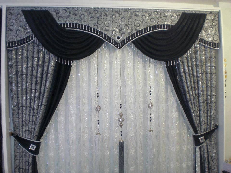 Black & White Curtains Set
