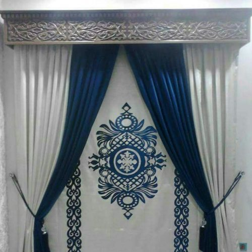 Blue White Curtains