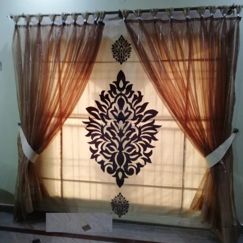 Brown Net Curtains