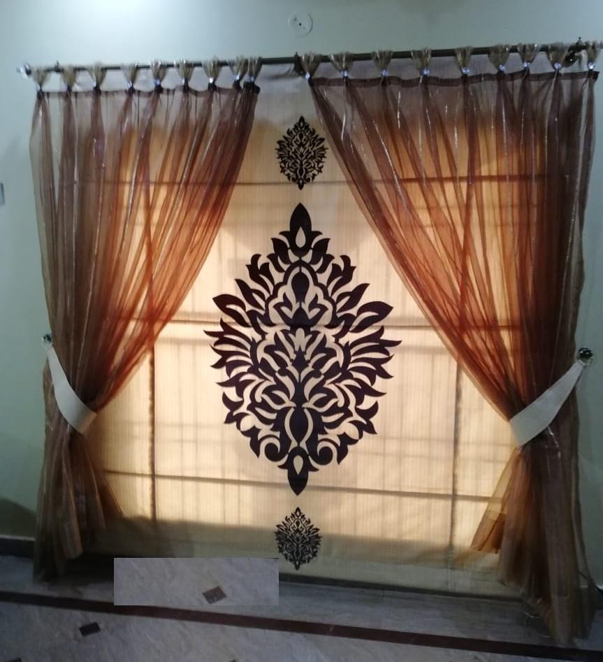Brown Net Curtains