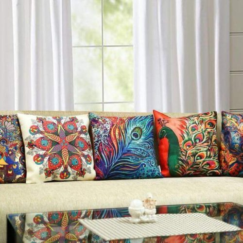 Colored Prints Cushions