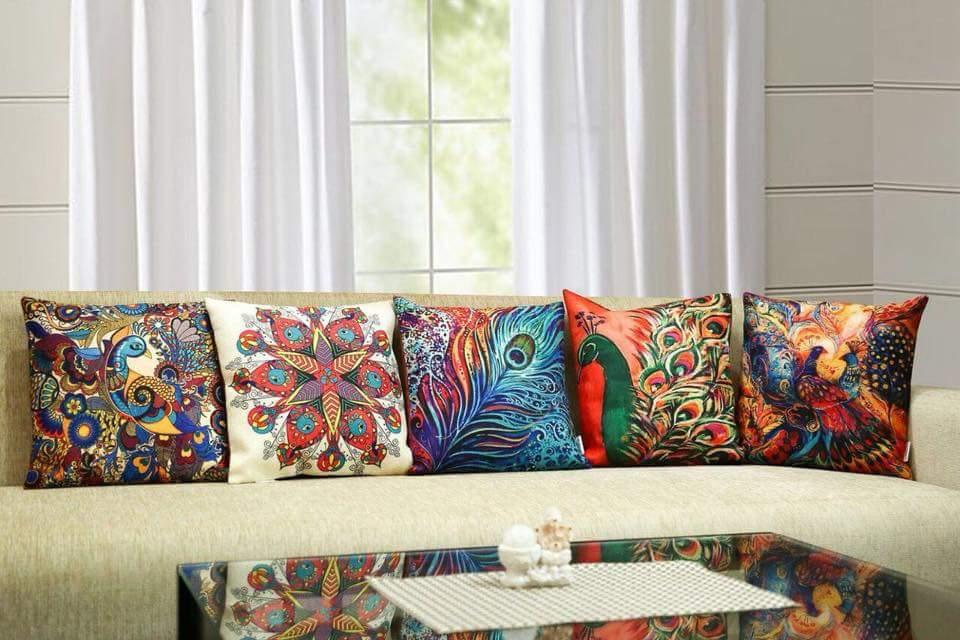 Colored Prints Cushions