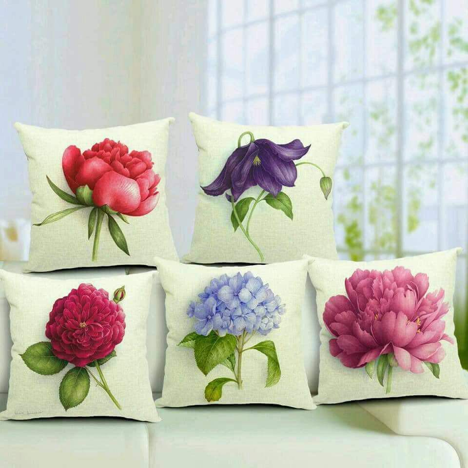 Flower Print Cushions