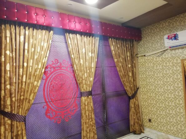 Golden Curtains Set