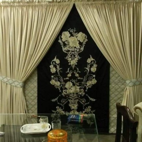 Golden Shinny Curtains for Wedding Hall