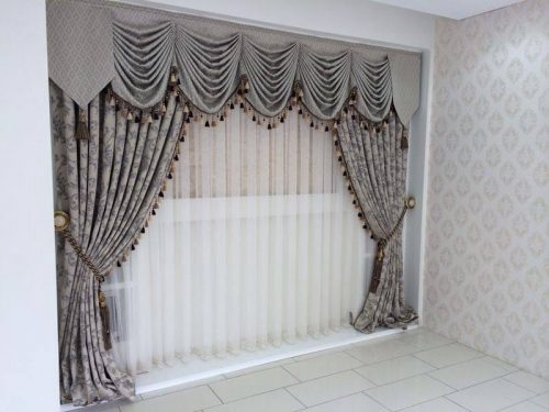 Grey Curtains for Drawing Room