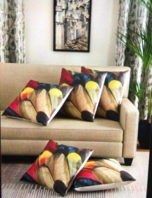 Leaf Print Cushions