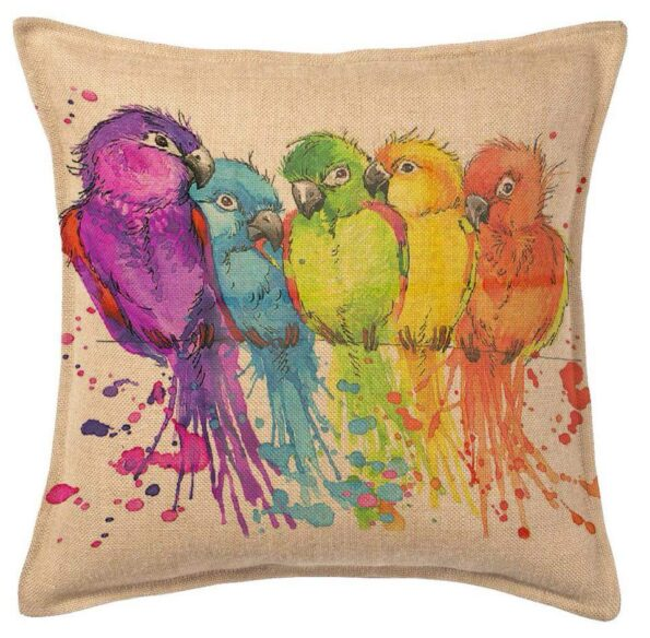Parrot Printed Design Cushions