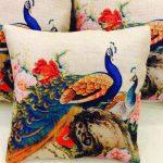 Peacock Print Cushions