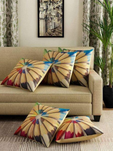 Pencil Colors Print Cushions