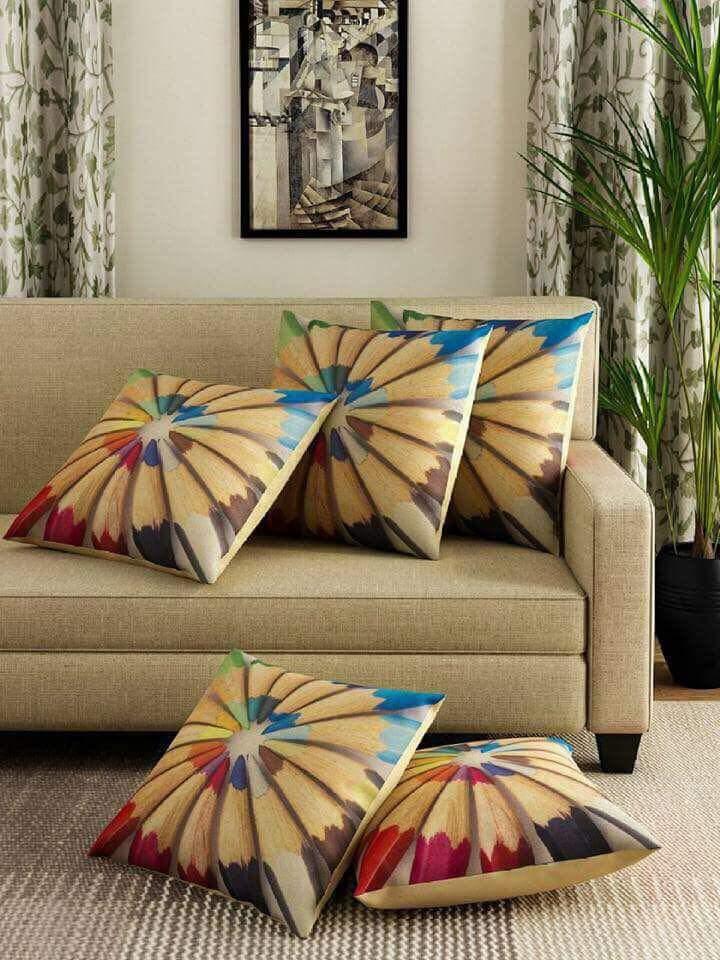Pencil Colors Print Cushions