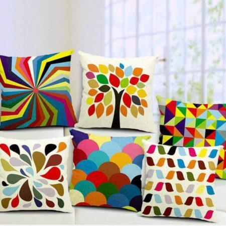 Rainbow Color Printed Cushions
