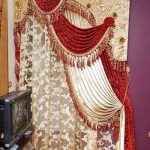 Red & Golden Curtains for Wedding Halls