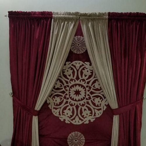 Red & Golden parda for Wedding