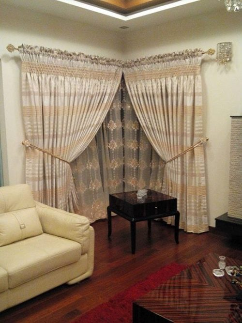 Shinny Curtains for Bedroom