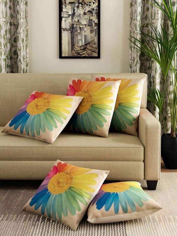 Sun Flower Print Cushions