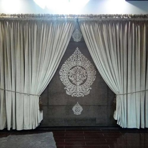 Wedding Room Brown Curtains