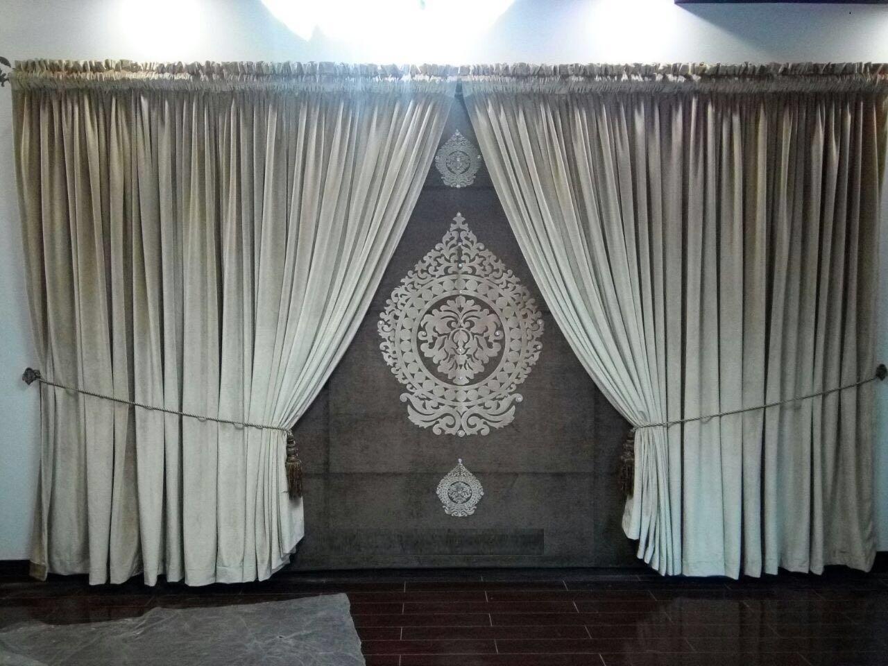 Wedding Room Brown Curtains