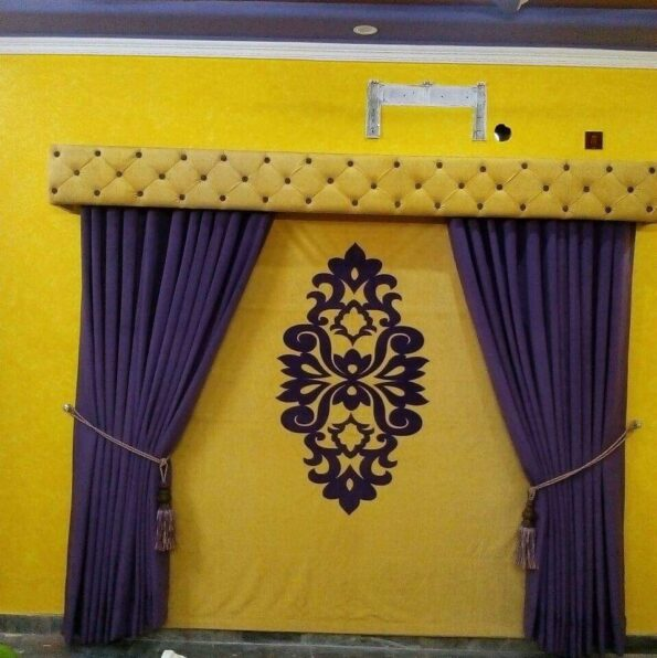 Yellow & Blue Curtains