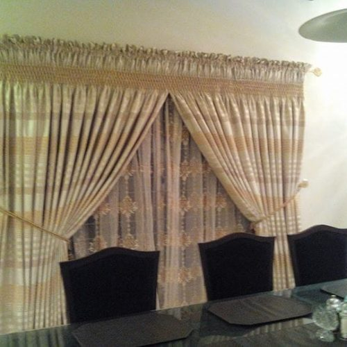 Yellow Printed Curtains for Sale