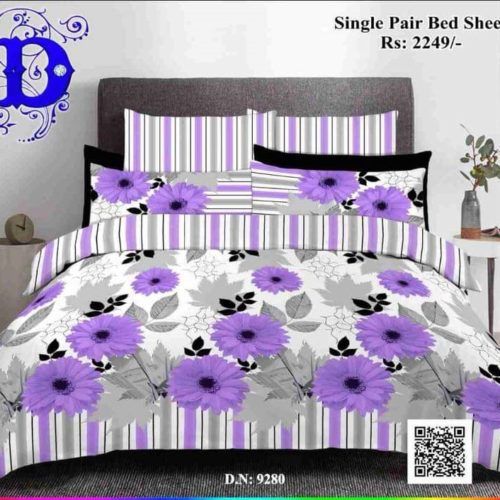 Purple Cotton Bed Sheets