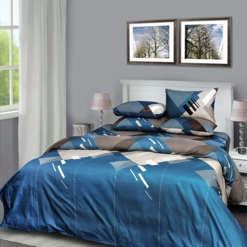 Blue White Bedding with 2 Pillows