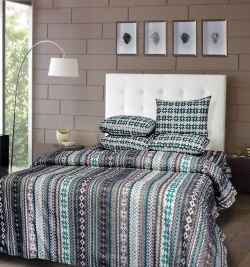 Pattern Lining Bedding with 2 Pillows