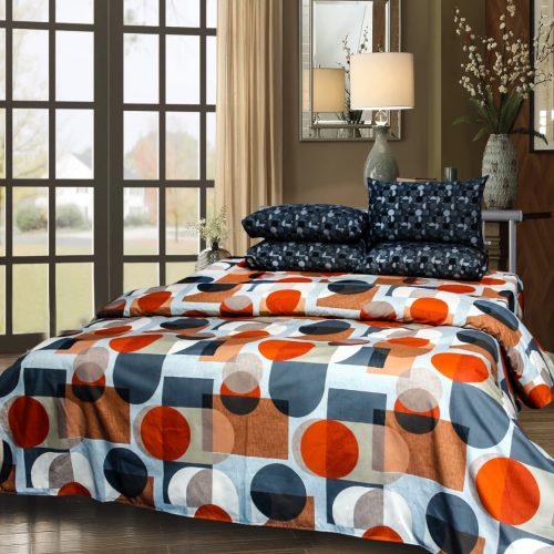 Pattern Round Bedding with 2 Pillows