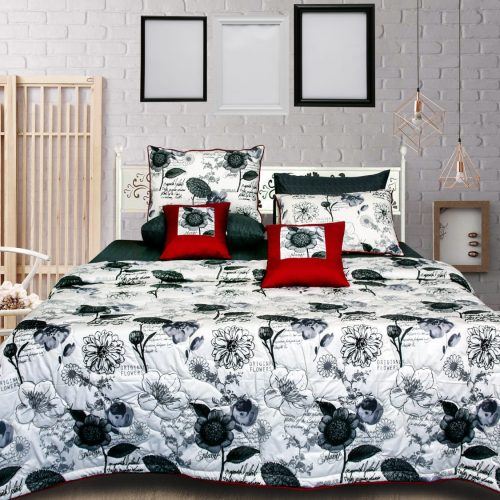 White Black Bedding 8 PCS Set