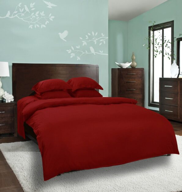 Plain Red Bed Sheet