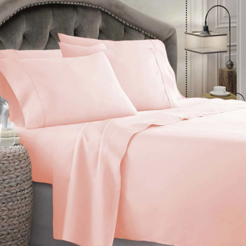 Plain Tea Pink Bed Sheet