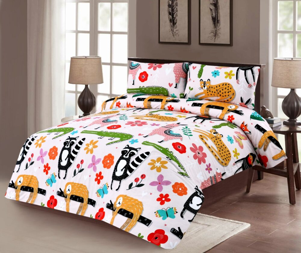 Animals Kids Bedding with 2 Pillows