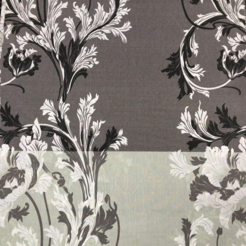 Black Grey Printed Bed Cover