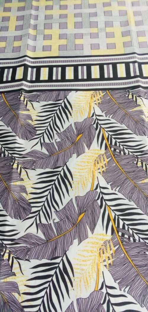 Black Leaf and Grey Printed Bed Sheets