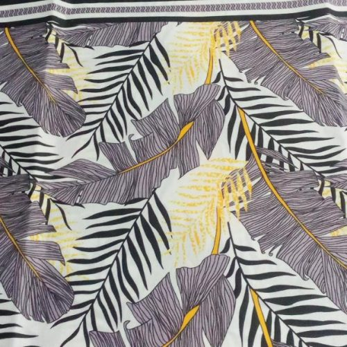 Black Leaf and Grey Printed Bed Sheets