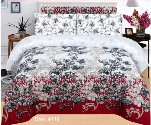 Black Printed Red Border Bedding
