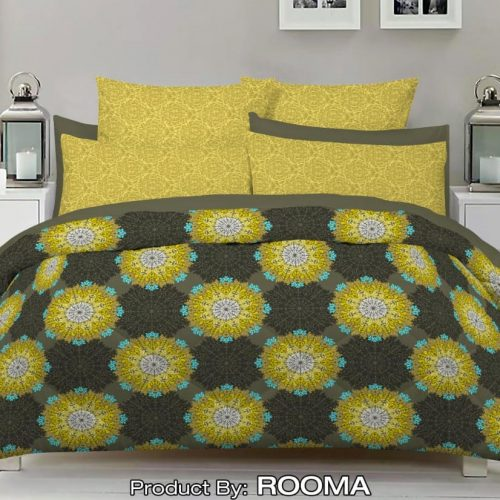 Black Yellow Color Bed Sheet