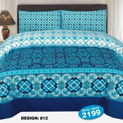 Blue Color Bed Sheets