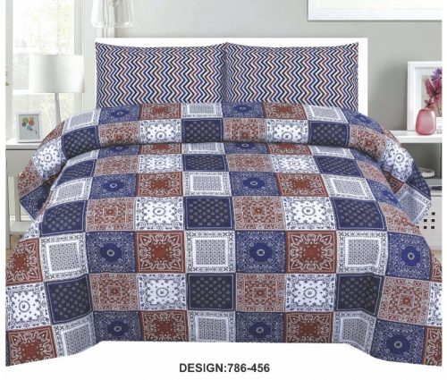Box Printed Bed Cover
